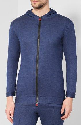 Мужской шерстяной спортивный костюм KNT синего цвета, арт. UMTS01K01R73 | Фото 2