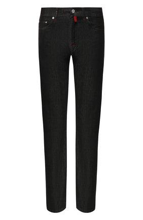 Мужские джинсы прямого кроя KITON черного цвета, арт. UPNJS/J02R55 | Фото 1