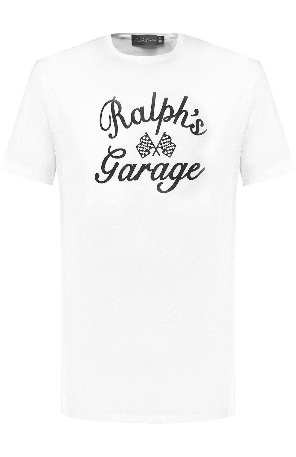 Мужская хлопковая футболка с принтом RALPH LAUREN белого цвета, арт. 790727863   Фото 1