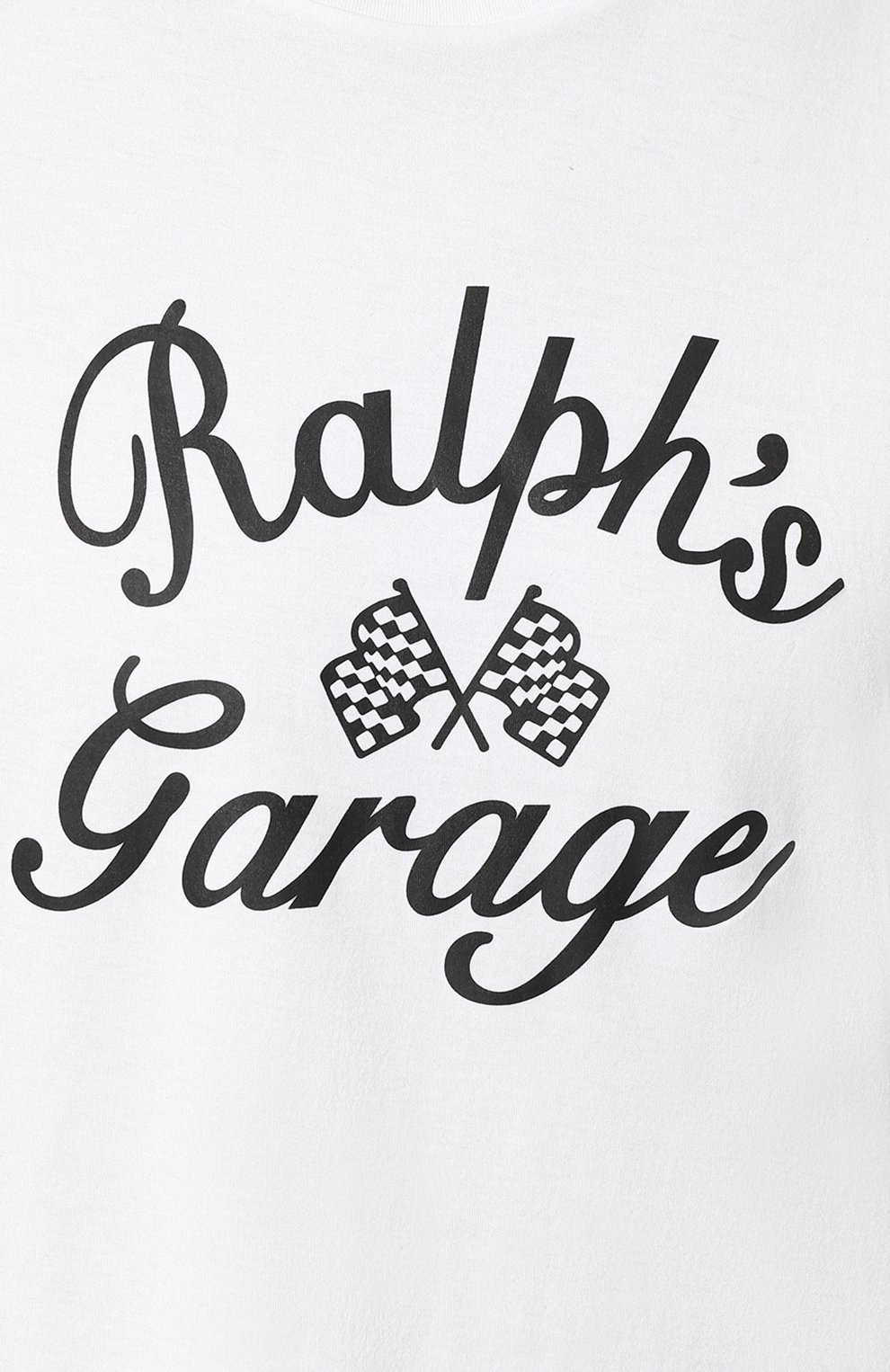 Мужская хлопковая футболка с принтом RALPH LAUREN белого цвета, арт. 790727863   Фото 5