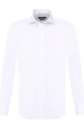 Мужская хлопковая сорочка CORNELIANI белого цвета, арт. 82P100-8811408/00 | Фото 1