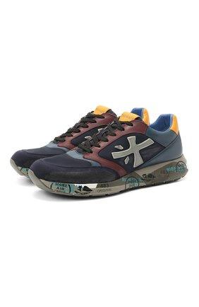 Мужские комбинированные кроссовки zac-zac на шнуровке PREMIATA разноцветного цвета, арт. ZAC-ZAC/VAR3545 | Фото 1