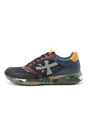 Мужские комбинированные кроссовки zac-zac на шнуровке PREMIATA разноцветного цвета, арт. ZAC-ZAC/VAR3545 | Фото 3
