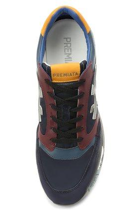 Мужские комбинированные кроссовки zac-zac на шнуровке PREMIATA разноцветного цвета, арт. ZAC-ZAC/VAR3545 | Фото 5