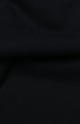 Мужской шерстяной шарф с необработанным краем LORO PIANA темно-синего цвета, арт. FAI1134 | Фото 2