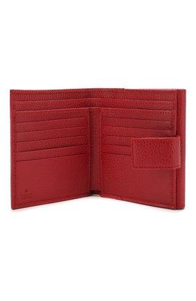 Кожаное портмоне с логотипом бренда Gucci красного цвета | Фото №3