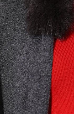 Пончо с отделкой из меха лисы | Фото №5