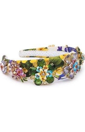 Ободок для волос с декоративной отделкой Dolce & Gabbana разноцветного цвета   Фото №1