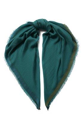 Женский платок quadrata rainbow из кашемира и шелка LORO PIANA зеленого цвета, арт. FAE7233 | Фото 1