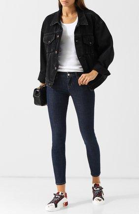 Женские джинсы-скинни DOLCE & GABBANA темно-синего цвета, арт. FTAH7Z/G981B | Фото 2