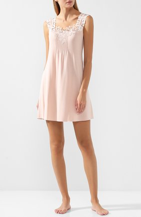 Ночная сорочка с кружевной отделкой Gianantonio Paladini розовая   Фото №1