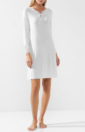 Женская ночная сорочка с кружевной отделкой GIANANTONIO PALADINI белого цвета, арт. FC03/S   Фото 2