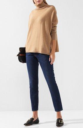 Кашемировый пуловер с высоким воротником Not Shy светло-серый   Фото №1