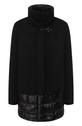 Куртка из смеси шерсти и кашемира Fay черная | Фото №1