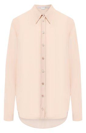 Однотонная шелковая блуза | Фото №1