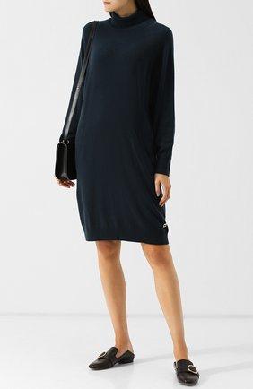 Кашемировое платье с высоким воротником Colombo светло-серое | Фото №1