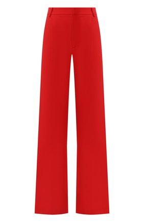 Однотонные расклешенные брюки Alice + Olivia красные   Фото №1