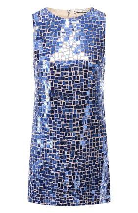 Мини-платье с декоративной отделкой Alice + Olivia голубое   Фото №1