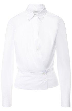 Женская однотонная хлопковая блуза sara roka, цвет белый, арт. APINA/FW18-01 в ЦУМ | Фото №1