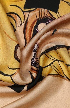 Женский шелковый платок с принтом GUCCI бежевого цвета, арт. 535086/3G001 | Фото 2