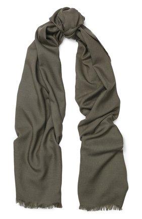 Мужской шарф из смеси шерсти и шелка с необработанным краем TOM FORD бежевого цвета, арт. 4TF123/2Z8 | Фото 1