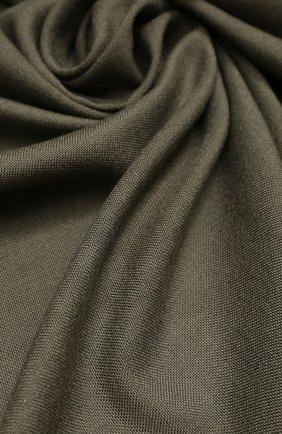 Мужской шарф из смеси шерсти и шелка с необработанным краем TOM FORD бежевого цвета, арт. 4TF123/2Z8 | Фото 2