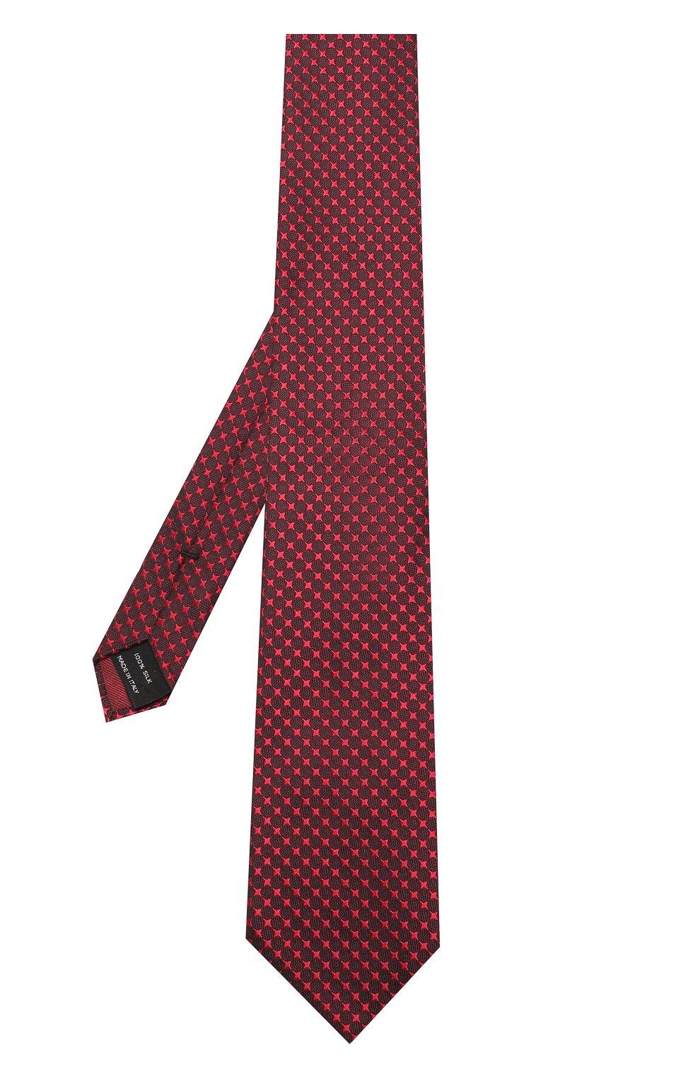 Мужской шелковый галстук с узором TOM FORD красного цвета, арт. 4TF43/XTM | Фото 2