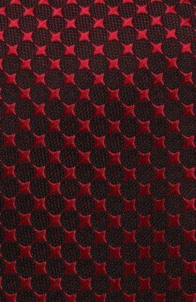 Мужской шелковый галстук с узором TOM FORD красного цвета, арт. 4TF43/XTM | Фото 3