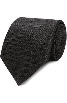 Мужской шелковый галстук TOM FORD черного цвета, арт. 4TF56/XTM | Фото 1