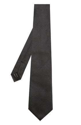 Мужской шелковый галстук TOM FORD черного цвета, арт. 4TF56/XTM | Фото 2