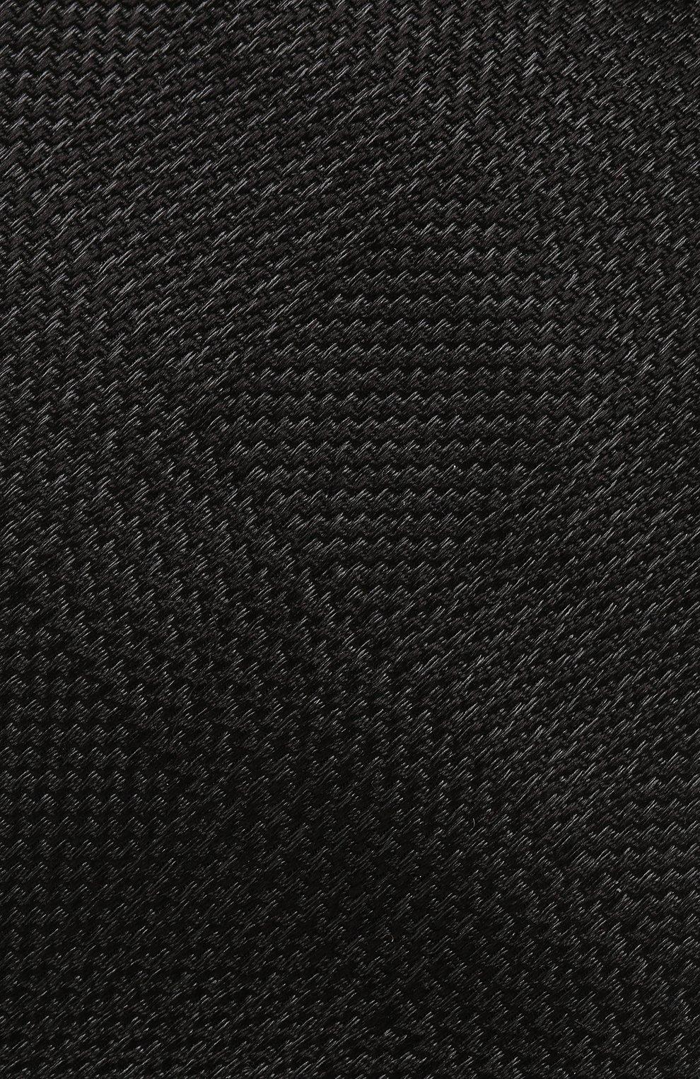 Мужской шелковый галстук TOM FORD черного цвета, арт. 4TF56/XTM | Фото 3