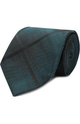 Мужской шелковый галстук TOM FORD зеленого цвета, арт. 4TF59/XTM | Фото 1