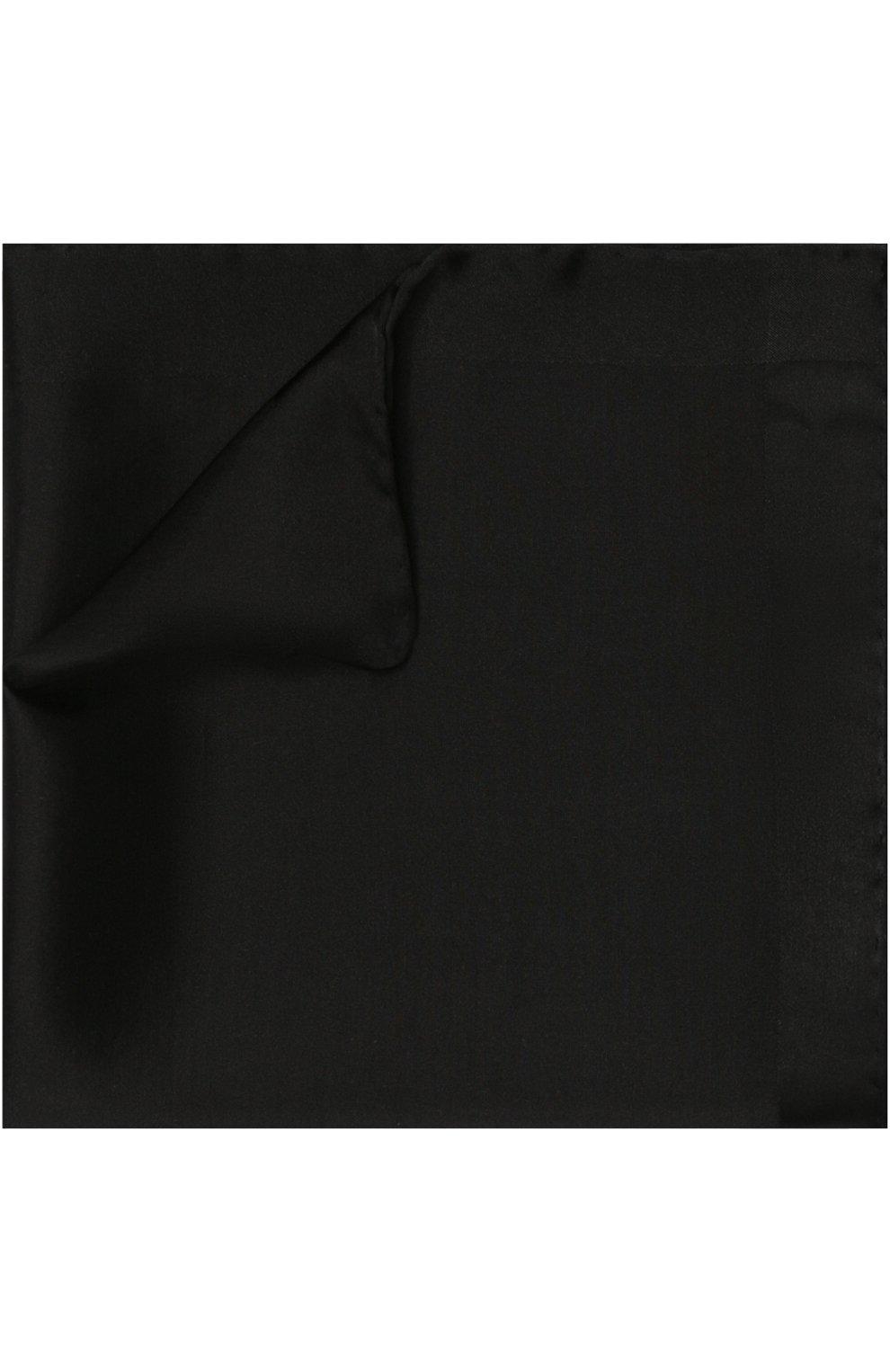 Мужской шелковый платок TOM FORD черного цвета, арт. 4TF86/TF312   Фото 1