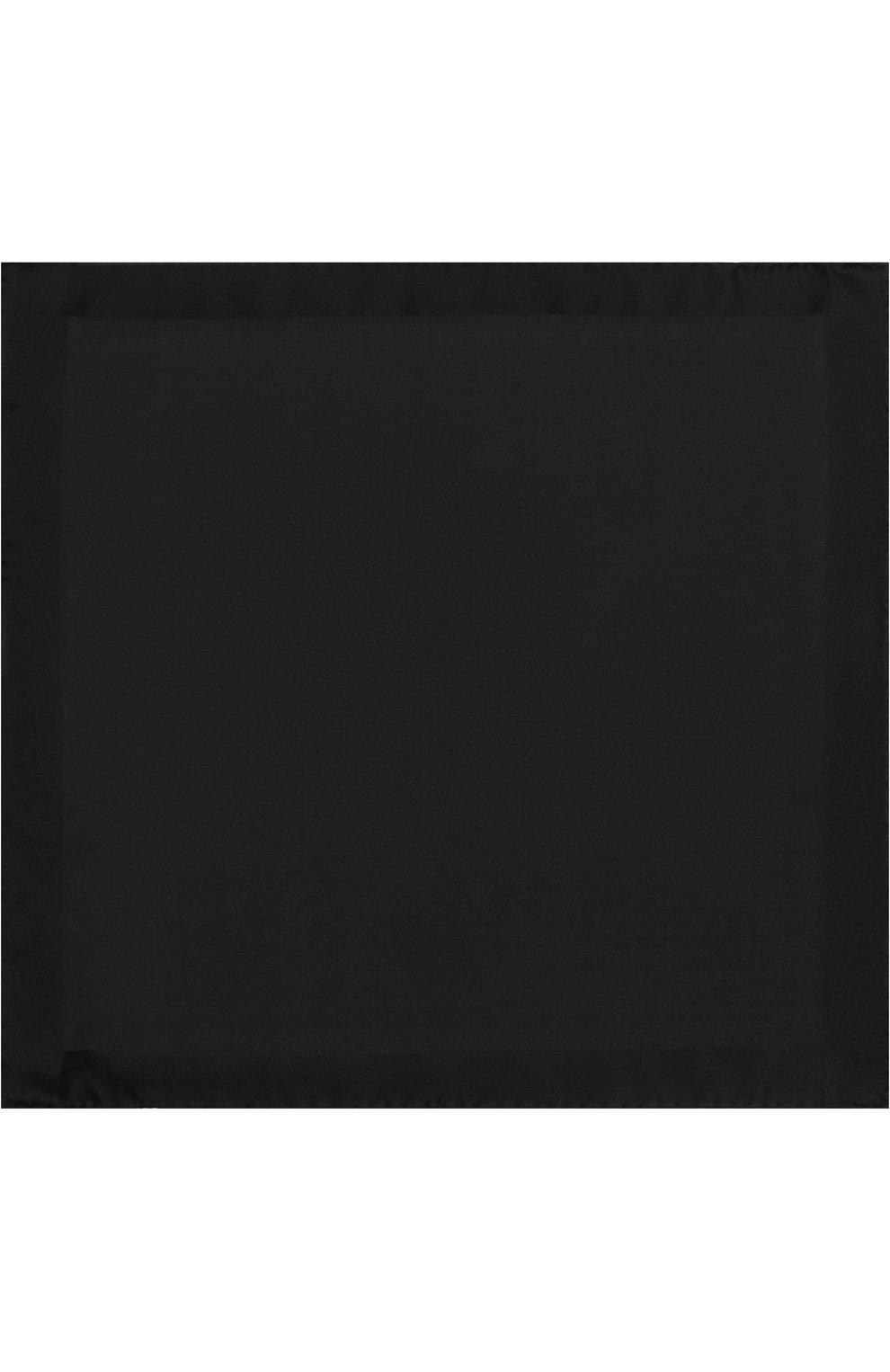 Мужской шелковый платок TOM FORD черного цвета, арт. 4TF86/TF312   Фото 3