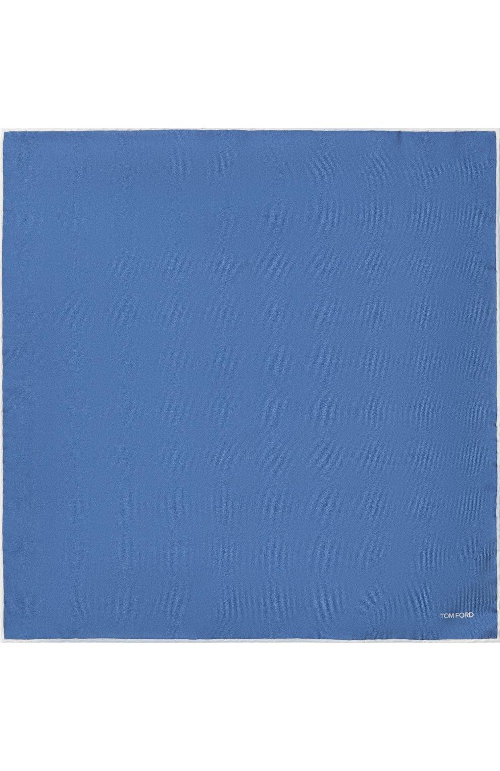 Мужской шелковый платок TOM FORD синего цвета, арт. 4TF87/TF312 | Фото 3