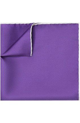 Мужской шелковый платок TOM FORD фиолетового цвета, арт. 4TF87/TF312   Фото 1