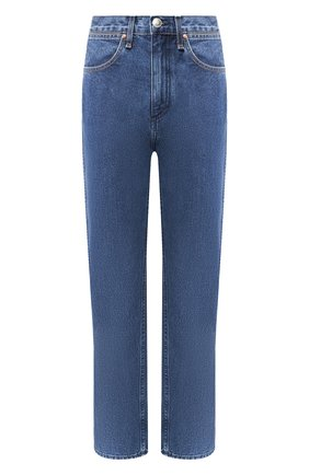 Укороченные джинсы с потертостями
