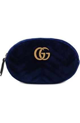 Поясная сумка GG Marmont из бархата | Фото №1