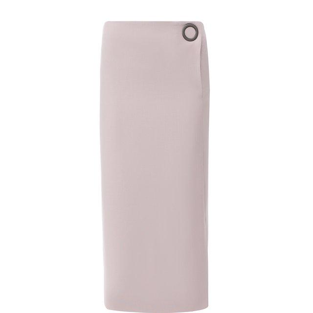 Однотонная шерстяная юбка Giorgio Armani