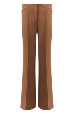 Расклешенные шерстяные брюки со стрелками Windsor коричневые | Фото №1