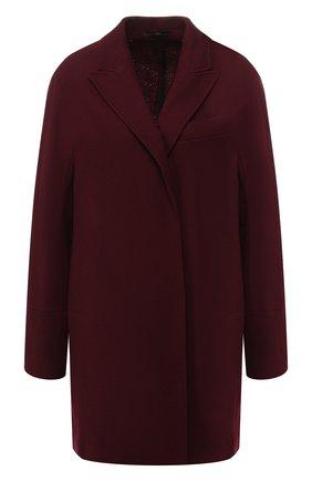 Шерстяное пальто с отложным воротником   Фото №1