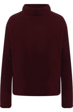 Кашемировый пуловер с воротником-стойкой Windsor бордовый | Фото №1