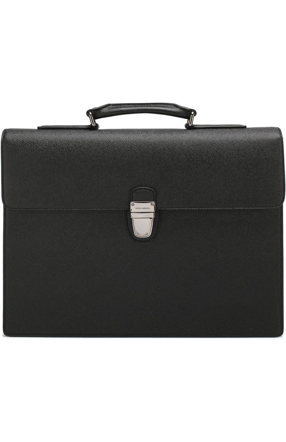 Кожаный портфель Ufficio с клапаном | Фото №1