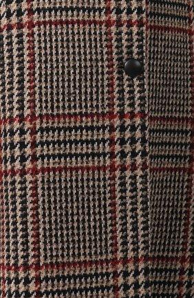 Шерстяное пальто с меховым воротником | Фото №5