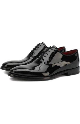 Лаковые оксфорды на шнуровке Barrett черные | Фото №1