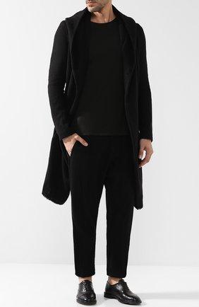 Кожаные оксфорды на шнуровке Antonio Maurizi черные | Фото №1