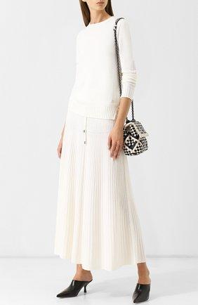 Кашемировая юбка-миди с эластичным поясом | Фото №2