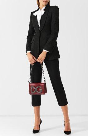 Сумка DG Girls Dolce & Gabbana бордовая цвета   Фото №1