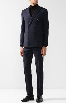Шерстяной костюм с двубортным пиджаком   Фото №1