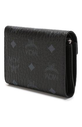 Женские кошелек с принтом MCM черного цвета, арт. MYS 8SPA13   Фото 2